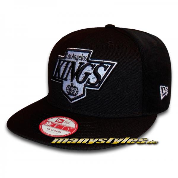 Los Angeles Kings 9FIFTY NHL Mesh Panel Basic Black White Snapback Cap