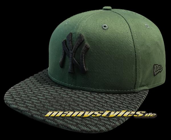 NY Yankees MLB Crown Knit 9FIFTY Snapback Cap Rifle Green Black von New Era