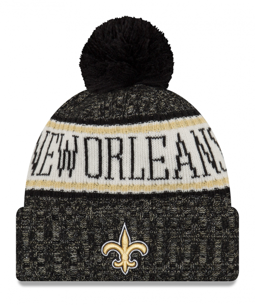 New Orleans Saints NFL Sideline 2018 Knit Bobble Beenie von New Era