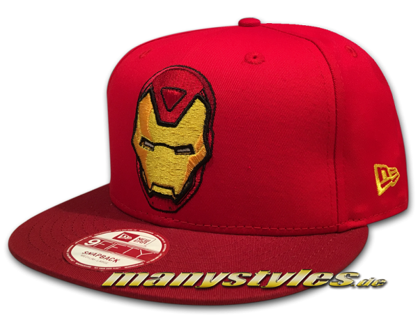 Marvel Comics Ironman The Golden Avenger 9FIFTY Hero Pop Snapback Cap in Scaret Red von New Era