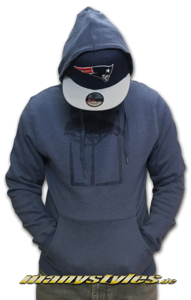 Mahagony Hooded Sweater Navy Melange