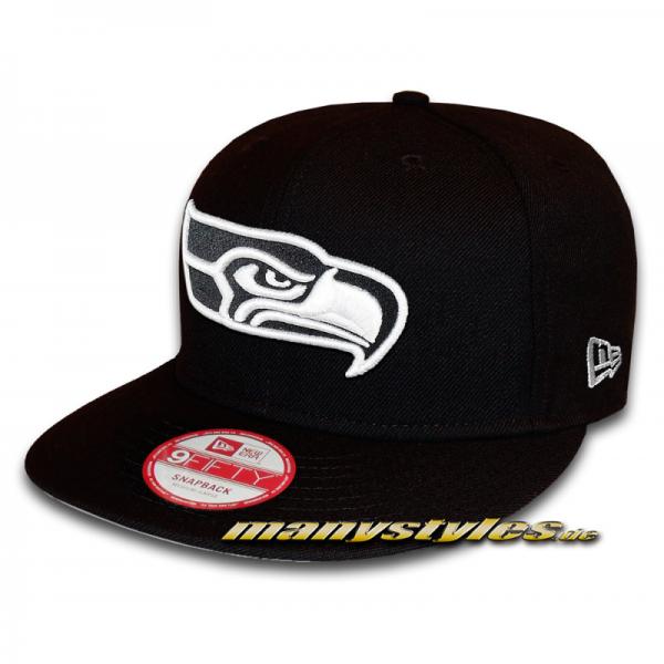 Seattle Seahawks 9FIFTY NFL Black White Snapback Cap