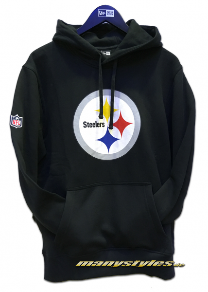 Pittsburgh Steelers NFL PO Hood Hooded Sweater Black Official Team Color von New Era