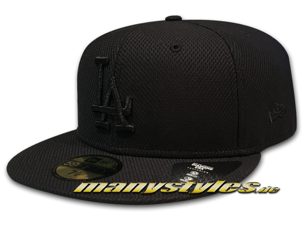 LA Dodgers 59FIFTY Diamond Era 5950 Cap Black on Black von New Era