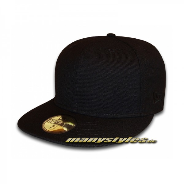 NE Originals Blank 59FIFTY Black on Black Special Edition Cap exclusive Plain without Logo