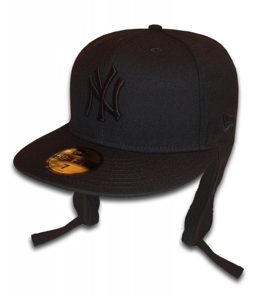 NY Yankees 59FIFTY Dog Ear Cap Black on Black von New Era