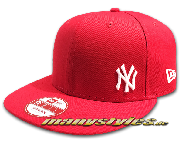 NY Yankees 9FIFTY MLB Flawless Red White Snapback Cap