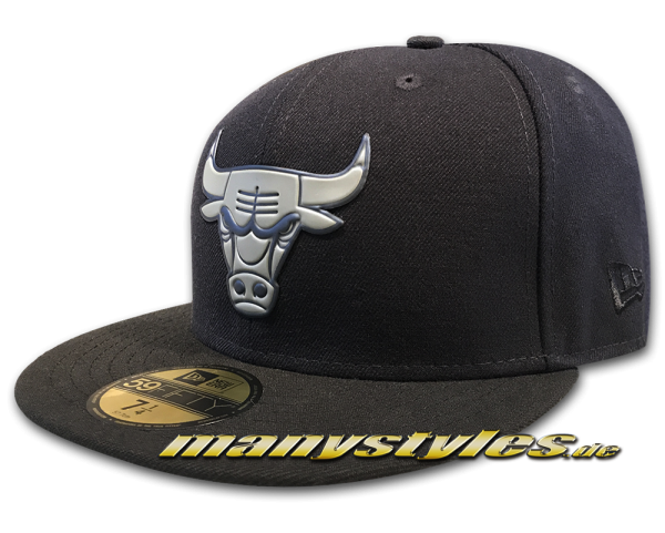 Chicago Bulls NBA 59FIFTY Ger Team Chrome Cap Navy Black von New Era