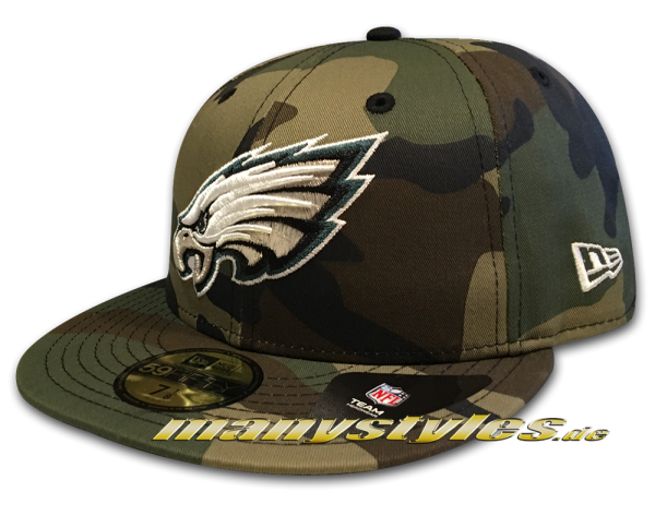 Philadelphia Eagles NFL 59FIFTY Basic Camo exclusive Cap Woodland Camouflage von New Era