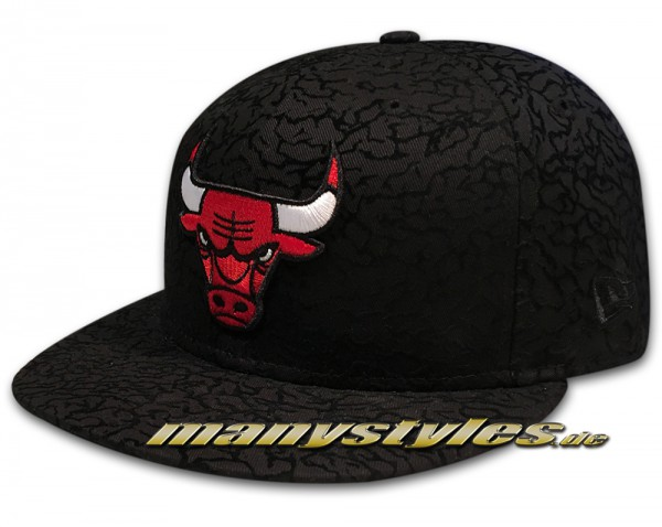 Chicago Bulls  59FIFTY NBA Flock Crown Black Red White frontside
