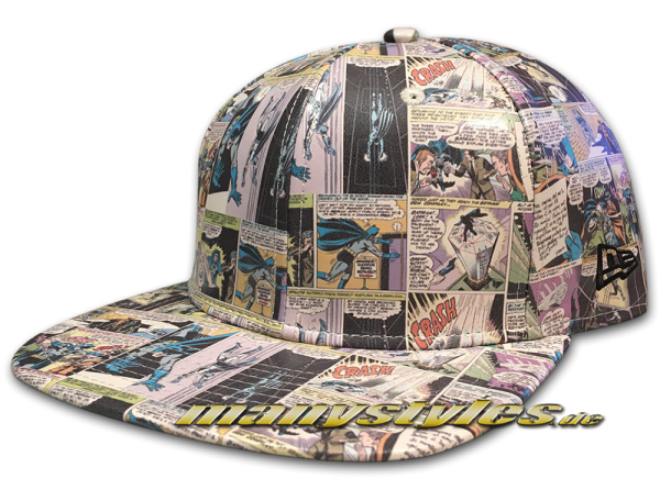 New Era DC Comics Batman 9FIFTY Original Fit Snapback Comic Snap Cap All Over
