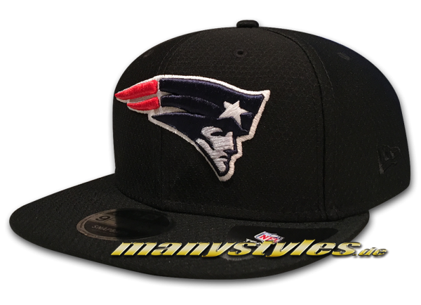 New England Patriots 9FIFTY NFL Diamond Era DryEra Tech 950 Snapback Cap Black Original Team Color OTC von New Era