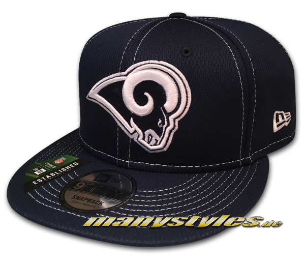 Los Angeles Rams 9FIFTY NFL19 SL RD 950 Snapback Cap Navy White OTC Sideline 2019 von New Era