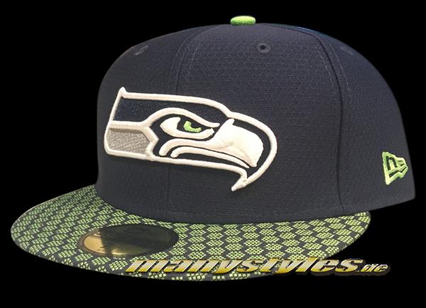 Seattle Seahawks 59FIFTY NFL Sideline 2017 On Field Cap  OTC von New Era