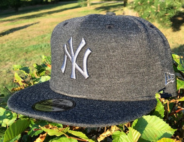 NY Yankees MLB 9FIFTY Snapback Cap Jersey Essential Graphite Heather Black von New Era