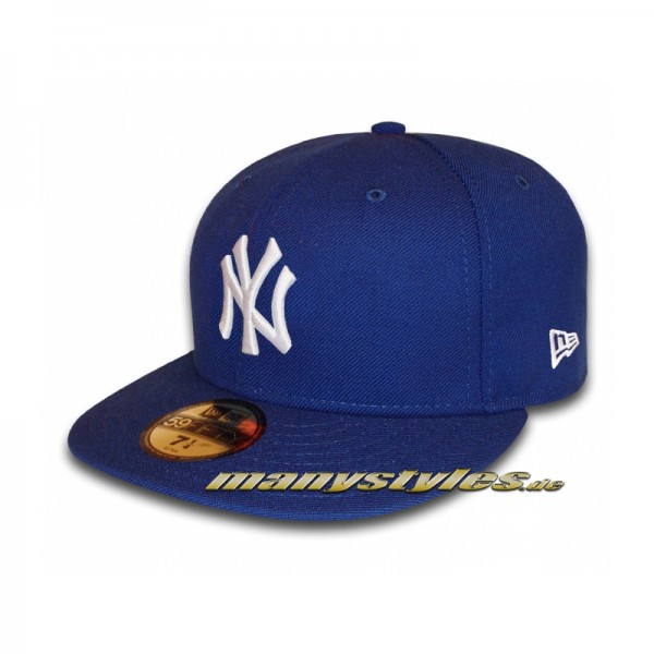 NY YANKEES New Era MLB Basic Cap Royal White 59FIFTY Fitted
