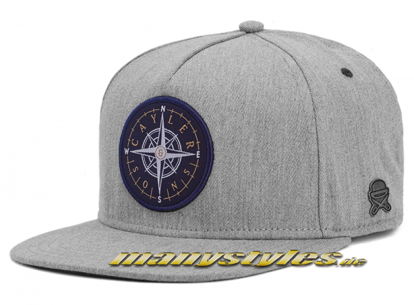 Cayler & Sons Navigating Heather Grey 2 Snapback Cap