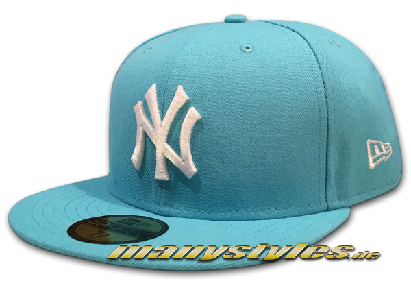 NY Yankees 59FIFTY Season Basic Cap Vice Blue White von New Era