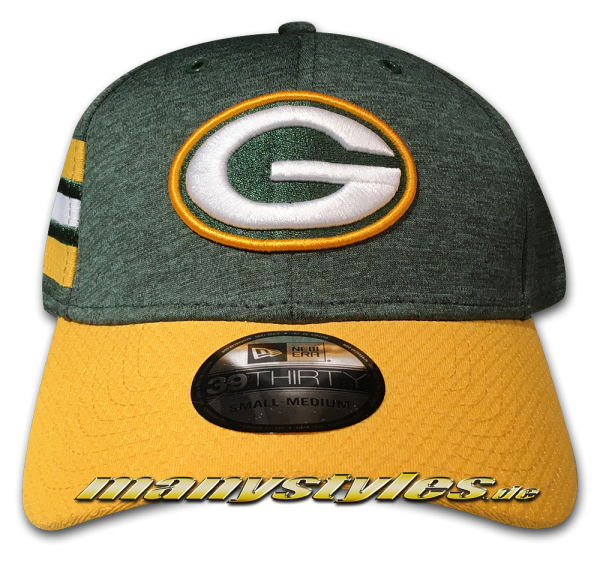 Greenbay Packers 39THIRTY NFL Sideline 2018 Curved Visor Cap von New Era