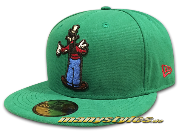 Disney Licensed 59FIFTY Goofy Cap Reverse Character Wyb Green OTC Official Team Color von New Era
