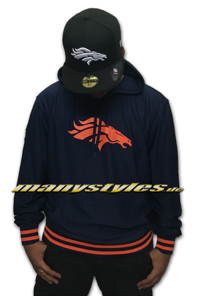 Denver Broncos NFL Dry Era Hoody Hooded Sweatshirt Navy OTC von New Era