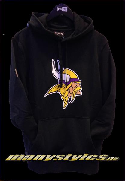 Minnessota Vikings NFL Team Logo PO Hood Hooded Black Team Color von New Era