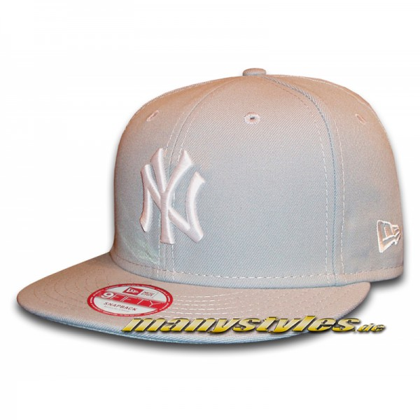 NY Yankees 9FIFTY MLB League Essential Stone Grey Snapback Cap