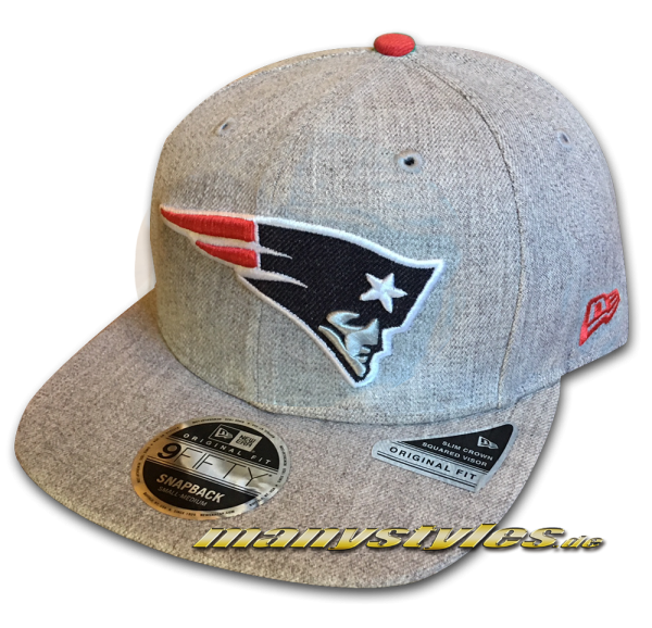 New England Patriots 9FIFTY NFL Heathered Hype OF Original Fit Snapback Cap Original Official Team Color OTC von New Era