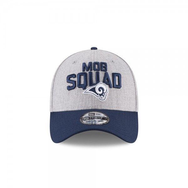 Los Angeles Rams NFL On Stage 39THIRTY Curved Visor Cap Mob Squad Heather Black von New Era