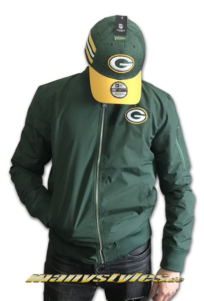 Greenbay Packers NFL Zip Bomber Jacket Green OTC von New Era