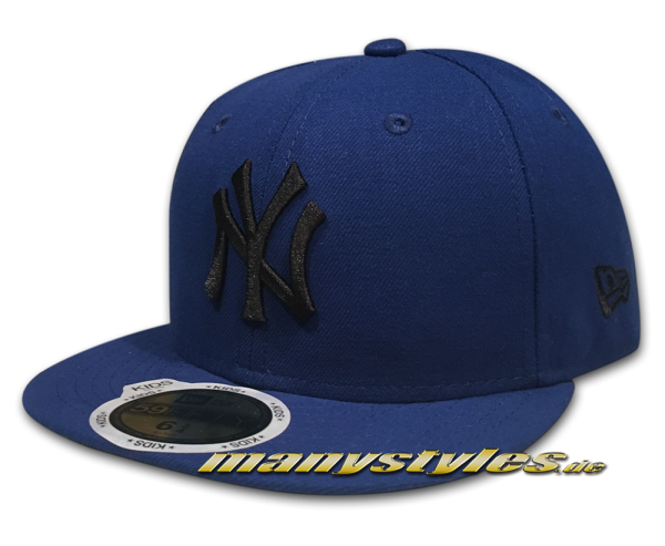 NY YANKEES New Era MLB Basic Cap  Blue Black 59FIFTY von New Era Frontside