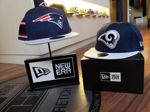 Lo-Angeles-Rams-New-England-Patriots-New-Era-Sideline-2018-9FIFTY-SnapbackCaps