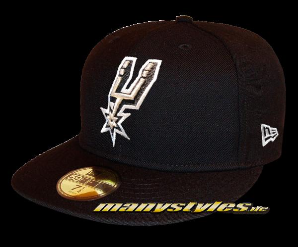 San Antonio Spurs 59FIFTY NBA Team Classic Cap Black White OTC von New Era