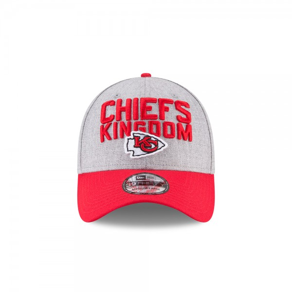 Kansas City Chiefs NFL On Stage 39THIRTY Curved Visor Cap Chiefs Kingdom Heather Red von New Era
