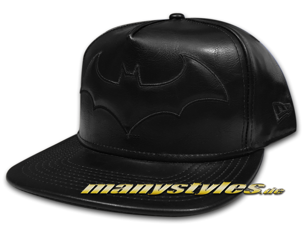 Batman DC Comic 9FIFTY Original Fit PU Bevel Snapback Cap in Black on Black von New Era