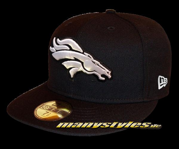 Denver Broncos 59FIFTY Fitted Cap League Essential Basic Fit2 Black White von New Era