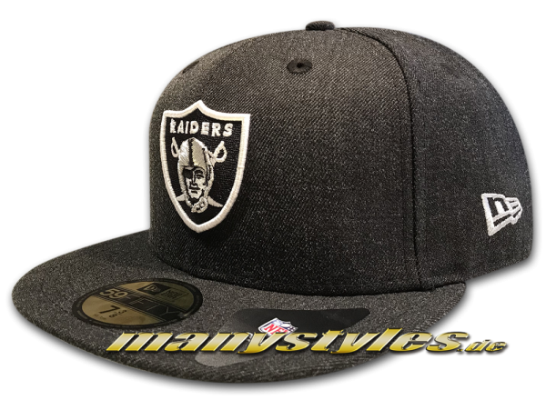 Oakland Raiders 59FIFTY NFL Cap Heather Team Charcoal Black OTC von New era