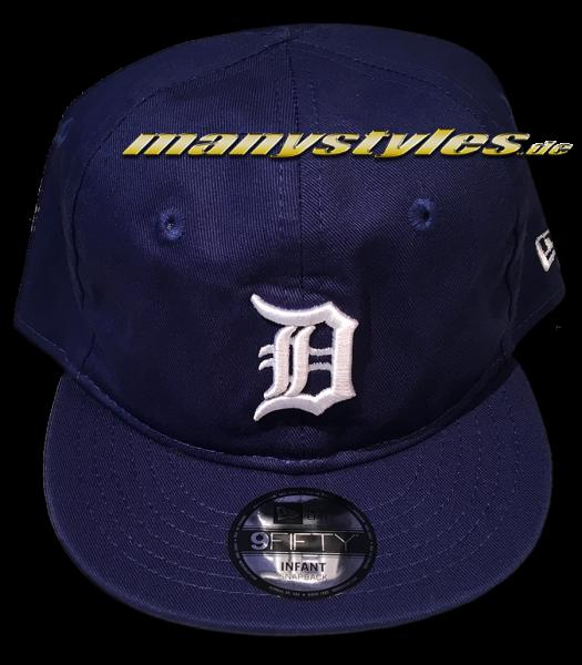 Detroit Tigers 9FIFTY Basic Infant Snapback Cap Dark Royal White von New Era