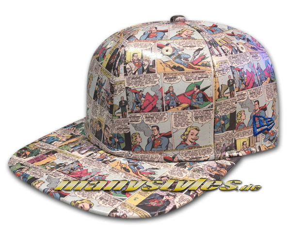 New Era DC Comics Superman 9FIFTY Original Fit Snapback Comic Snap Cap All Over