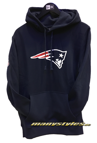 New England Patriots NFL PO Hood Hooded Sweater Official Team Color von New Era