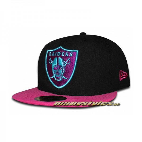 Oakland Raiders NFL 59FIFTY Neon Crown Cap