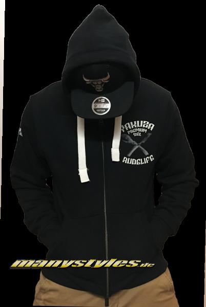 Yakuza Premium Rudelife Hooded Black White
