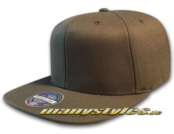 Mitchell and Ness Blank 110 Flex Fit Snapback Cap Olive Clean without Logo