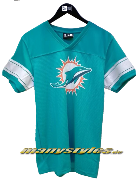 Miami Dolphins NFL Team Jersey Teal White OTC Official Team Color von New Era