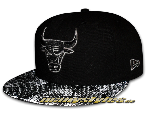 Chicago Bulls Reflect Camo 59FIFTY NBA Black Graphite