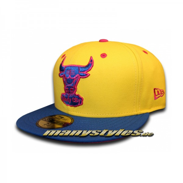 CHICAGO BULLS NBA HWC Cap Windy City Cyberyellow von new era