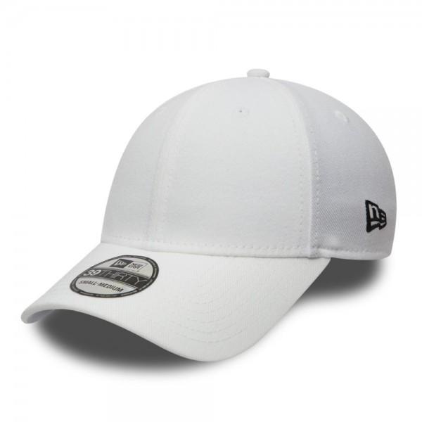 39THIRTY Blank Stretch Flex Fit Curved Visor Cap White von New Era