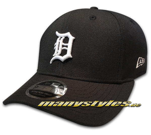 Detroit Tigers 9FIFTY MLB Stretch Fit Snapback Cap Black White von New Era