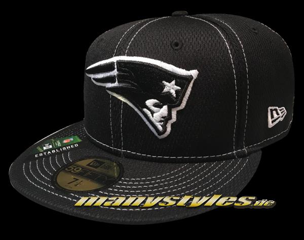 New England Patriots 59FIFTY Fitted NFL19 SL RD 5950 Sideline 2019 Cap Black White von New Era