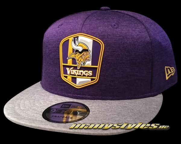 Minessota Vikings 9FIFTY Road NFL Sideline 2018 Snapback Cap von New Era